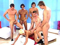 Big orgy with hot studs enjoying intense anal intercourse daddy gay movies