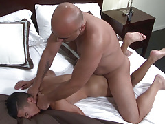 Big dicked Daddy Brian is ecstatic when he spies sexy sub boy Armond Rizzo in the bed. Armond has no trouble in wrapping his lips around Brian's fat cock and then happily stretches his cheeks so that Brian can pound his tough cock deep inside his ass. B daddy gay movies