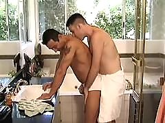 Three careless guys sexing outside daddy gay movies