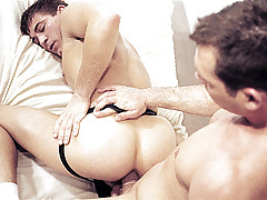 Propelling a fake penis can't live without ass; then a second dildo, then a hand ! daddy gay movies