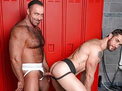 Dean & Brad pull their weenies from their jocks at the lockers