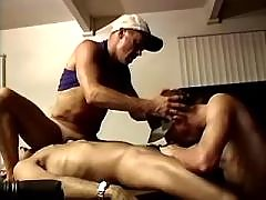 Three hunks fuck and eat fresh cum daddy gay movies