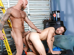 Nasty pig fuckers Drake & Isaac explore gritty fetish sex daddy gay movies