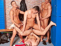 It's a locker room groupie when 4 athletes meet subsequently the game daddy gay movies