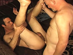 DILF playing amazing sex games with younger dude in heat! daddy gay movies