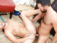 Rich's aching schlong obtains some of Lucas' tight hairy apple bottoms daddy gay movies
