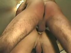 Stud takes monster dildo up his ass