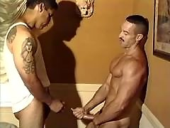 Handsome gays practise anal skills