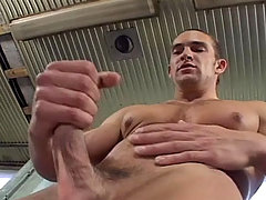 Muscular stud enjoys his cock and cum all over himself daddy gay movies