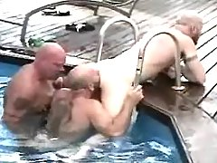 Horny mature gays suck each other in orgy