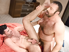 Manly buds Brad & Billy rub & grind their fur as one daddy gay movies