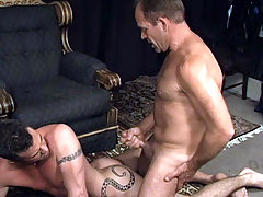 Hot guys enjoying some hot blowjob and anal action in here