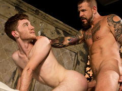 Massive Rocco Steele has written 'MINE' on ginger Seamus O'Reilly's tight ass. Before he fully claims it, Seamus is faced with the task of sucking on Rocco's bulky advisor dick. Rocco feeds his meat to Seamus then conducts him to ride his weenie reverse c daddy gay movies