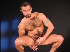 Hairy, hung, sexy, and horny as hell, Steve Cruz loves to shove things up his butt. We've got the Backroom Exclusive Video to prove it! Watch all