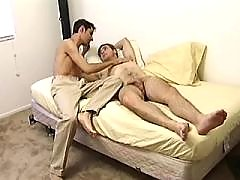 Asian dude polishing cock on knees daddy gay movies