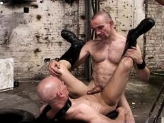 Mike French delivers sex of the harder variety. And Alex Wegert takes it from him hard but with heart. In the old factory hall the two slither and rol