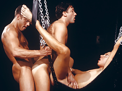 three perspired men enraptured in a tight, satisfying daisy-chain! daddy gay movies