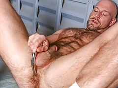 Dirk works over his shaggy strapping body & probes his ass daddy gay movies